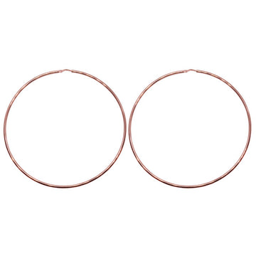 80mm Sterling Silver Gypsy Hoop Earrings - Silver, Gold and Rose Gold
