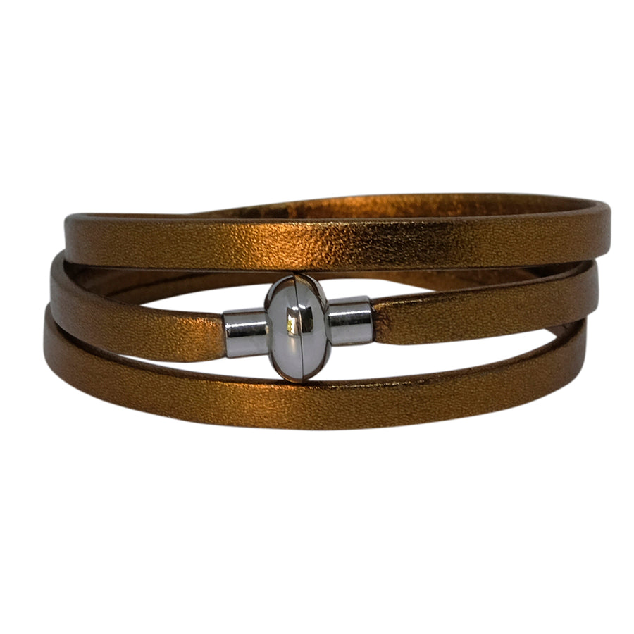 Leather Rainbow Bracelet - Bronze