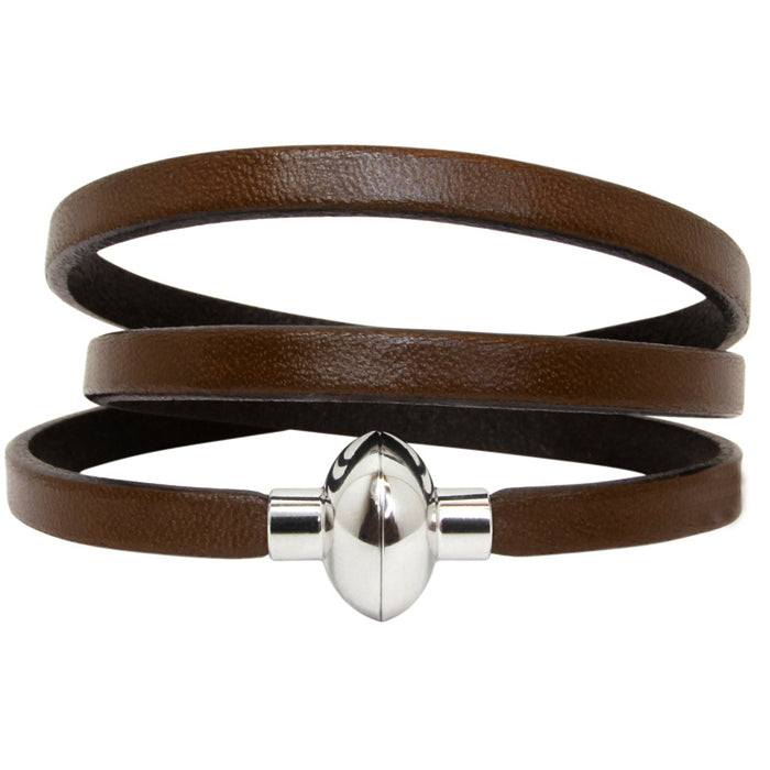 Leather Rainbow Bracelet - Chocolate brown