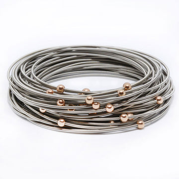Rose Gold Masai Bracelets - 40 Pack
