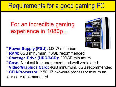 Requirements for a good gaming PC