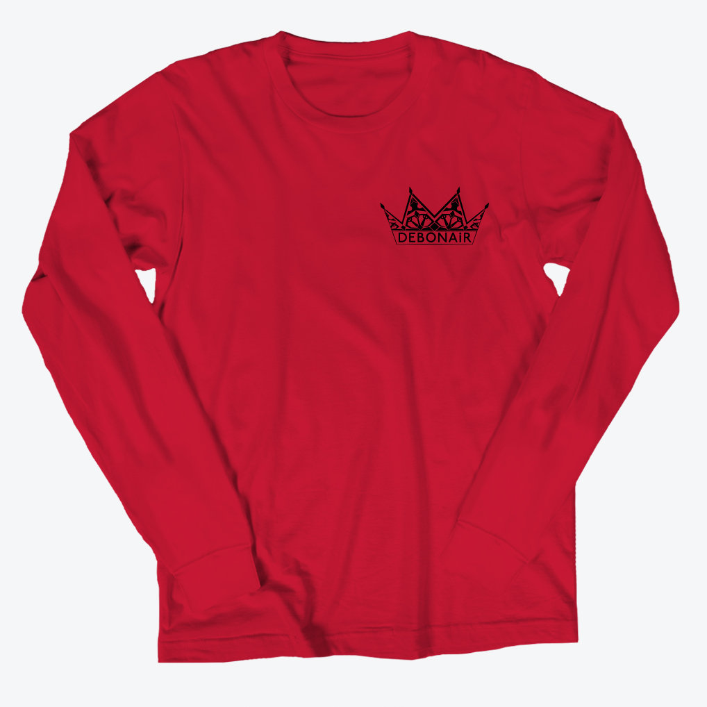Corner Logo Long Sleeve - Crimson Red