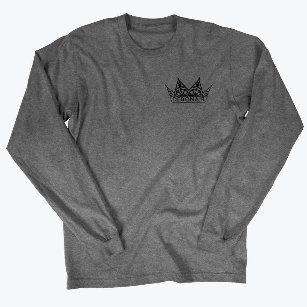 Corner Logo Long Sleeve - Titanium Grey