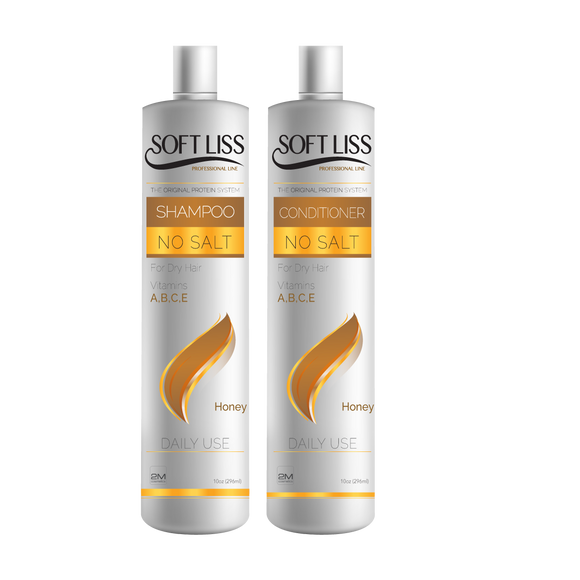 SoftLiss Salt Free Shampoo & Conditioner (Honey)