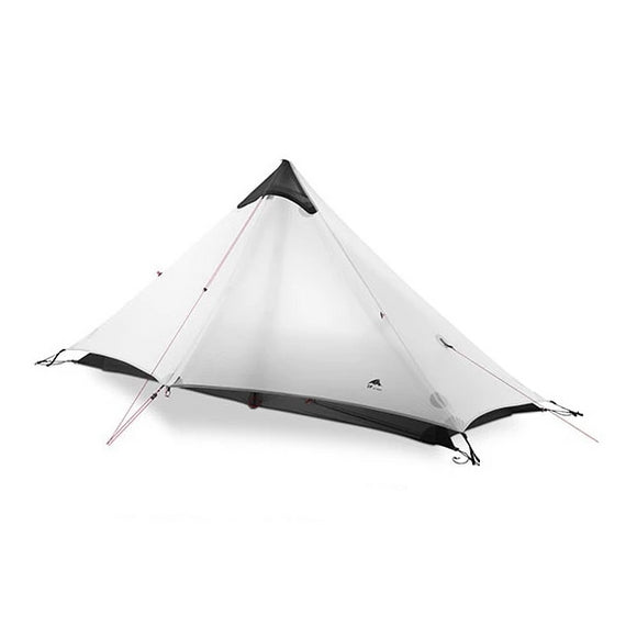 This a Camping and survival tent of white color, waterproof, light,1-2 person, 4 season. this tent is white