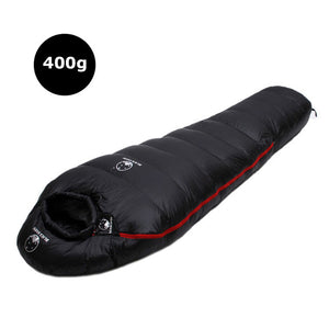 this is a black sleeping bag on the white backround