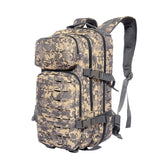 Military backpack 30L molle camouflage tactical acu on white background