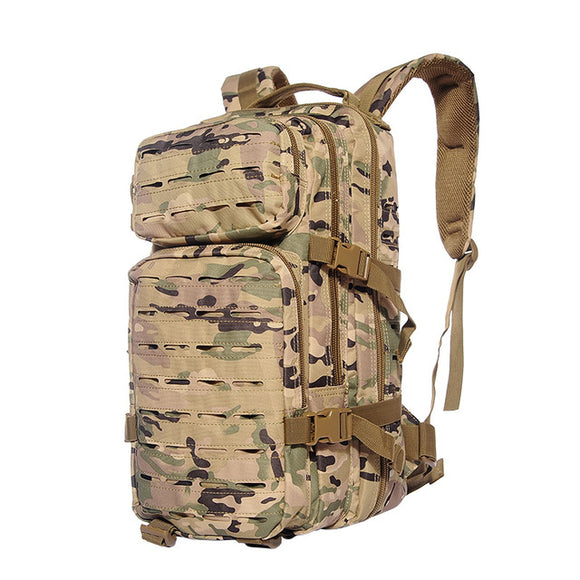 Military backpack 30L molle camouflage tactical cp on white background
