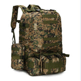 Military Backpack survival camo 55L molle digital jungle on white background