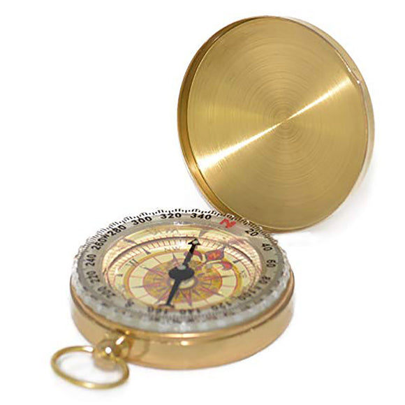 Pure copper clamshell compass with luminous system outdoor multi-function