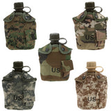 1L military survival gourd with tactical pouch in different colors