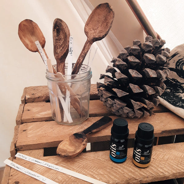 Aromatherapy and hand-carved spoons