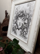 "Load image into Gallery viewer, Pen and Ink ""Harvey"" Reproduction/Giclée Fine Art Print - Gnostic Forest Art"