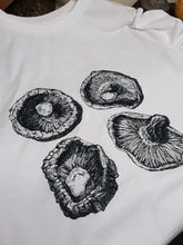 Load image into Gallery viewer, Unisex Eco-Friendly 100% Organic Cotton Shiitake Mushroom T-Shirt - Various Colours - Gnostic Forest Art