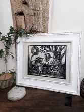 "Load image into Gallery viewer, ""A Walk"" Limited Edition Original Linoprint on Awagami Washi Paper - Gnostic Forest Art"