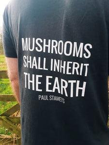 Gnostic Forest Men's Bamboo Eco-Friendly Mushroom T-Shirt with Paul Stamets Quote - Gnostic Forest Art