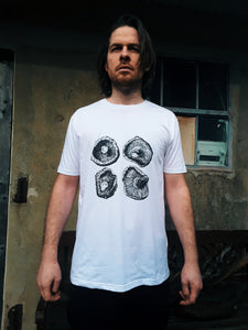Unisex Eco-Friendly 100% Organic Cotton Shiitake Mushroom T-Shirt - Various Colours - Gnostic Forest Art