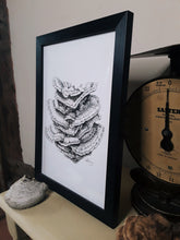 "Load image into Gallery viewer, ""Chicken of the Woods"" Pen and Ink Mushroom Recycled Print - Gnostic Forest Art"
