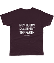 Load image into Gallery viewer, Gnostic Forest Men's Bamboo Eco-Friendly Mushroom T-Shirt with Paul Stamets Quote - Gnostic Forest Art