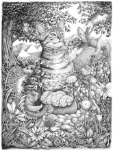 "Load image into Gallery viewer, Pen and Ink ""The Odyssey"" Reproduction/Giclée Fine Art Print - Gnostic Forest Art"