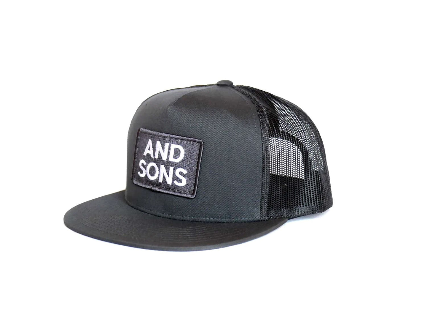 And Sons Logo on grey trucker hat