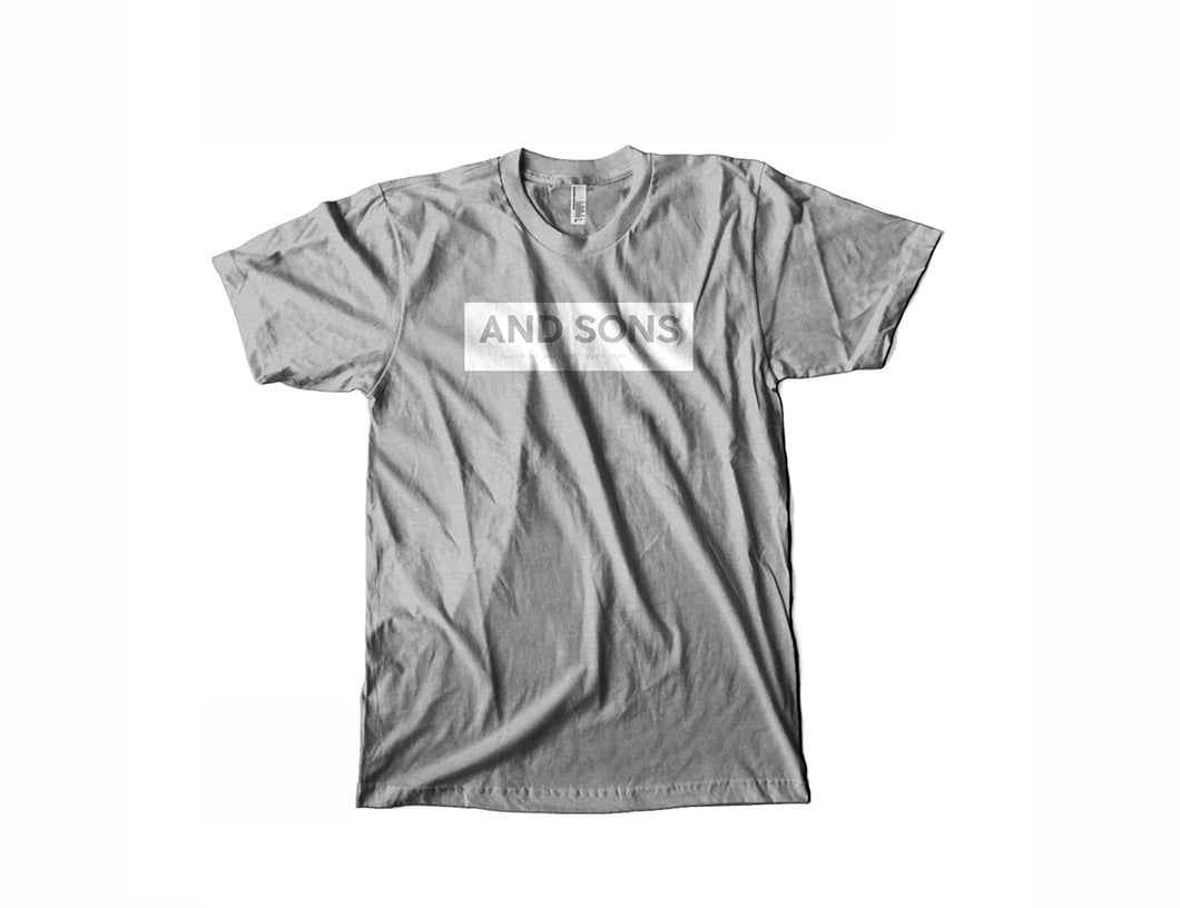 White And Sons Logo on light gray Tee Shirt
