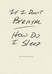If I Don't Breathe How Do I Sleep Joe Wenderoth