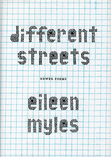 different streets - Limited Edition Hard Cover - Eileen Myles