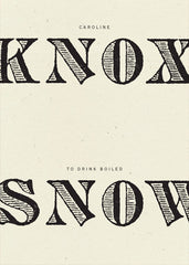 Caroline Knox, To Drink Boiled Snow