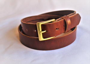 "Classic Medium Brown 1.25"" Men's Belt"