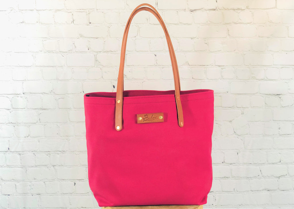 Canvas Tote , Cranberry