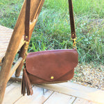 Catherine Crossbody, White Oak Brown