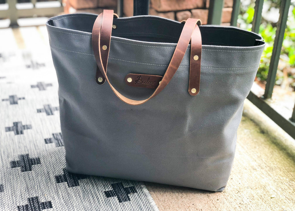 Canvas Tote , Light Grey