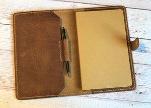 Mitchell Medium Notebook, English Tan