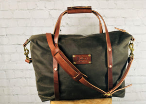 Waxed Canvas Weekender Bag