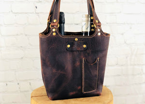 Davis Wine Tote, Dark Cherry