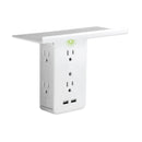 Socket Shelf by Sharper Image 8-Port Surge Protector - The New Deal Shop