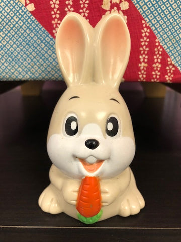 Bunny with Carrot Mascot Bank