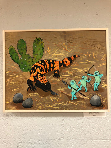 Bonhommes vs the Gila Monster by Ainsley Sturko