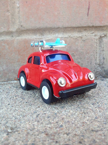 Pull Back Tin VW - red surf #106r