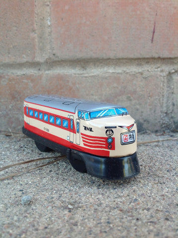 Wind Up Tin Train Single Car - R engine #226re