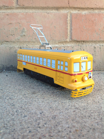 Tokyo Tin Trolley with track - yellow #302