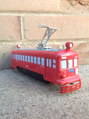 Gifu Tin Trolley with track - red #301