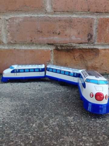 Shinkansen Zero Series Wind Up Tin Train - #1234