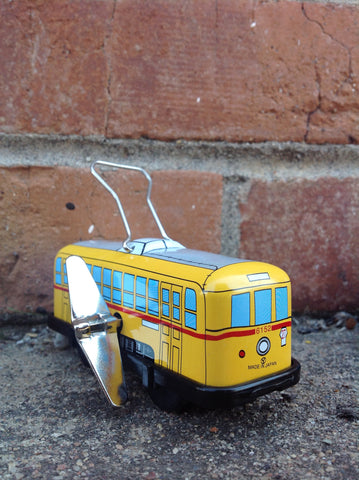 Wind Up Tin Trolley - yellow #211y