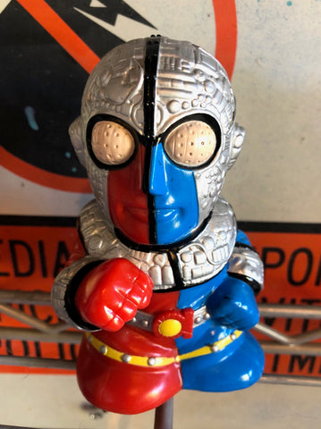 "Retro Banpresto Kakaider 5.5"" coin bank"