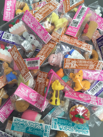 Keshigomu novelty erasers - blind bag