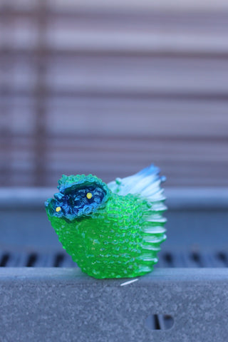 Grody Grouse - clear green/blue