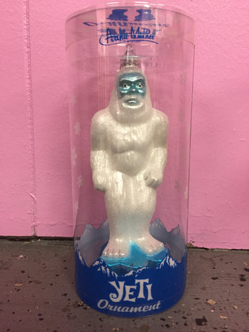 Glass Yeti Ornament - SALE!