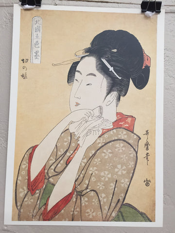 Five Types print by Kitagawa Utamaro